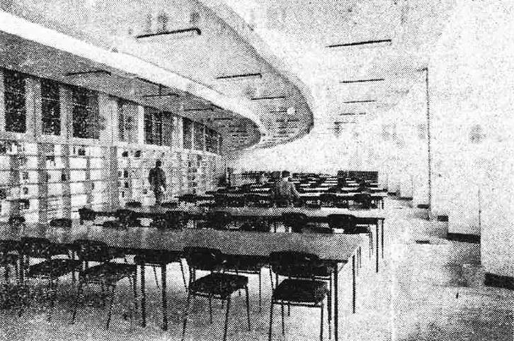 La salle de lecture du rez-de-chaussée en 1964 (photo Le Patriote, 8/10/64)