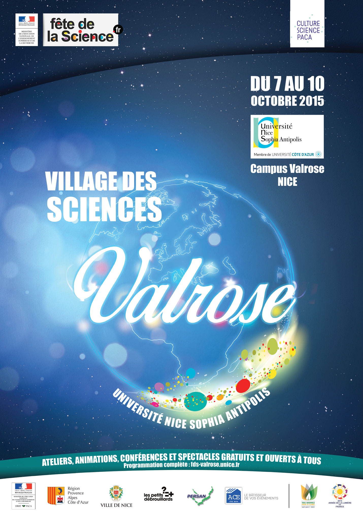 Affiche Village des Sciences Valrose 2015