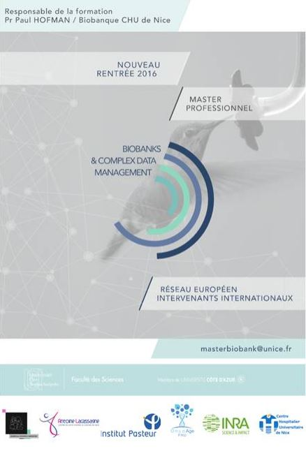 "Master professionnel UNS ""Biobanks and complex data management"""