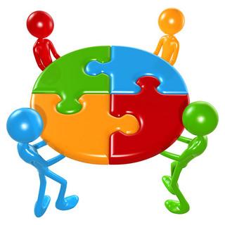Teamwork Puzzle Concept, par Scott Maxwell (Flickr, CC-BY-SA. www.lumaxart.com/)