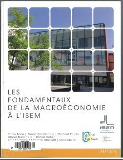 Couverture du manuel de macroéconomie de l'ISEM