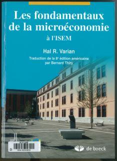 Couverture du manuel de microéconomie de l'ISEM